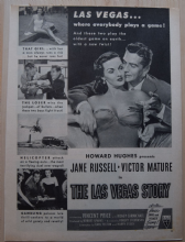 The Las Vegas Story (1952) - Jane Russell - Vintage Trade Ad